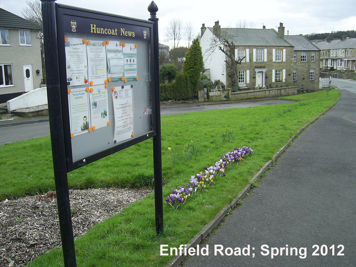 Enfield Road in Spring
